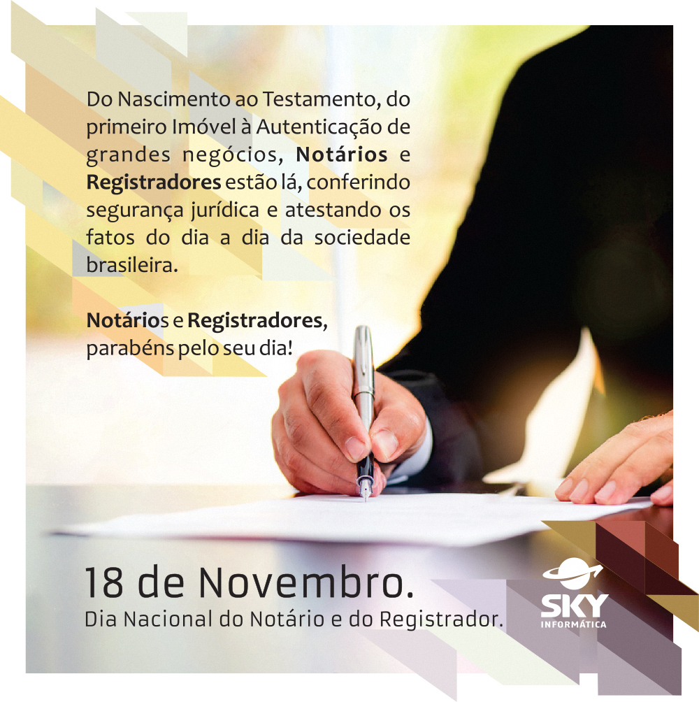 Dia do Notário e Registrador